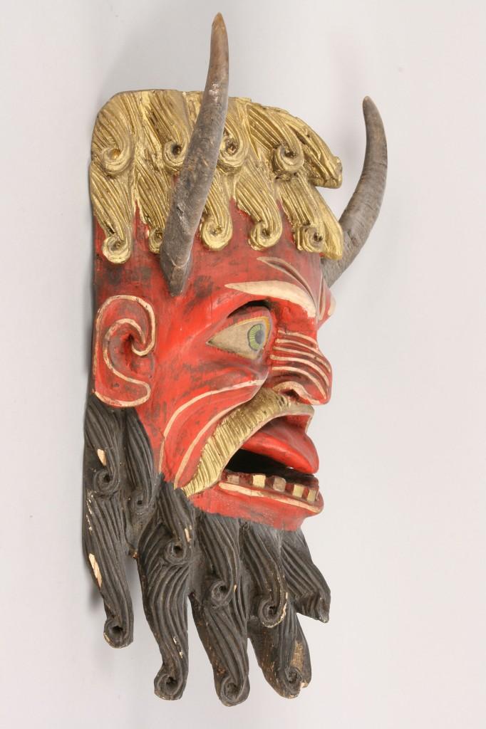 Lot 345: Mexican Folk Art Diablo mask
