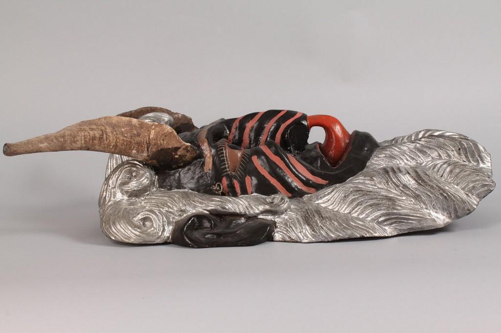 Lot 348: Mexican Folk Art Diablo Mask, Large Devil Form