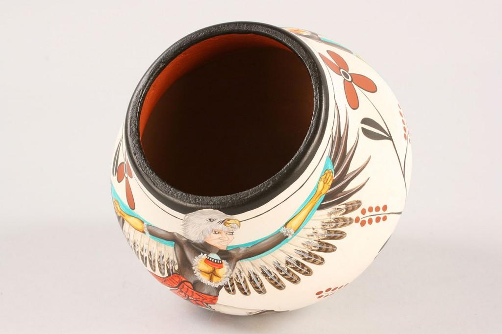 Lot 358: Decorated Jar by Elizabeth Medina