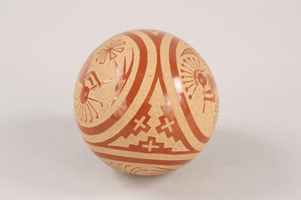 Lot 360: Joseph Lonewolfe, Santa Clara Pueblo pottery