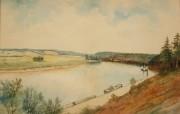 374: Gerard Rutgers Hardenbergh Watercolor Landscape