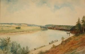 Lot 374: Gerard Rutgers Hardenbergh Watercolor Landscape