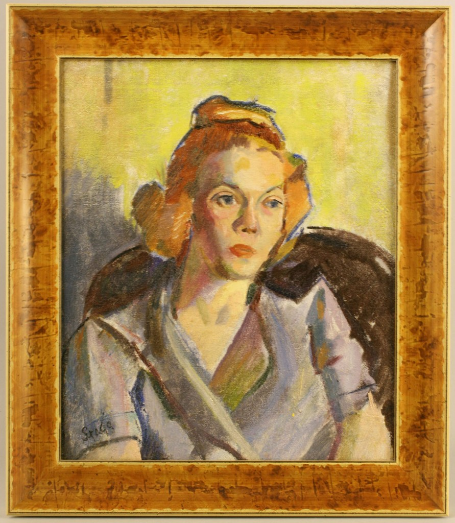 Lot 379: Clarence Stagg, Portrait of a Woman