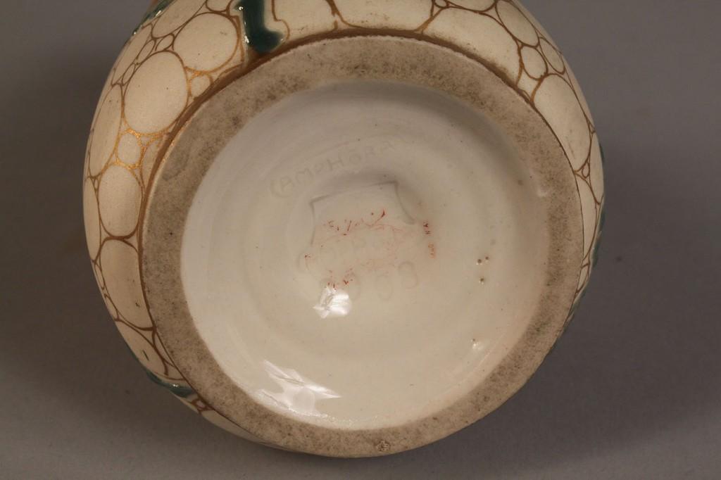 Lot 384: Amphora Vase with Carved Rose Decoration