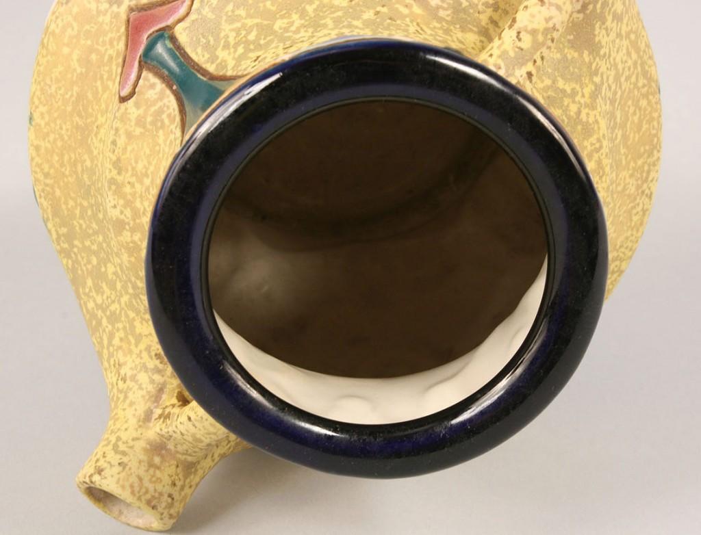 Lot 385: Amphora Wedding Vase, Yellow Ground with Geometri
