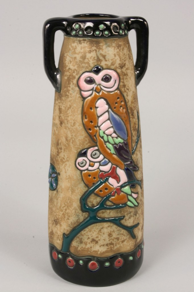 Lot 386: Amphora Vase with Owls