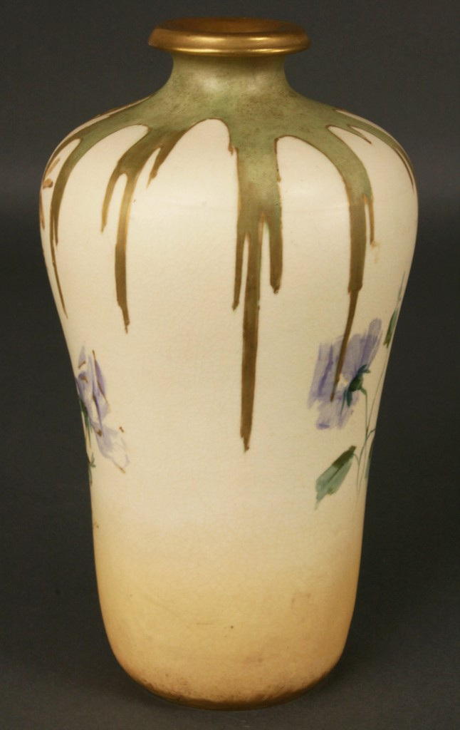Lot 388: Amphora Vase with Blue Flowers