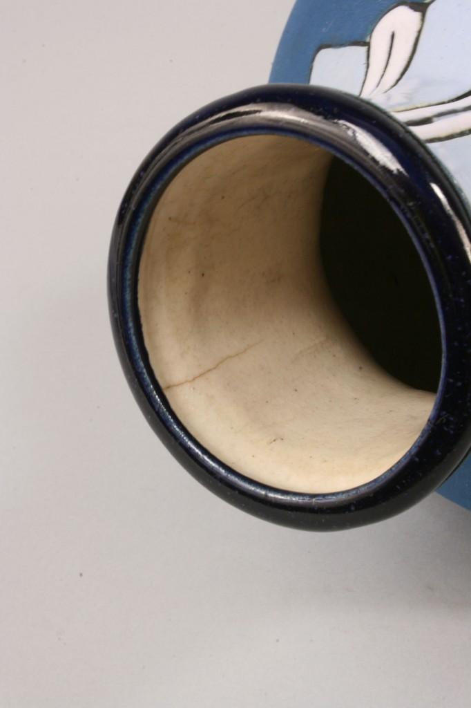 Lot 389: Amphora Egyptian motif vase, artist signed