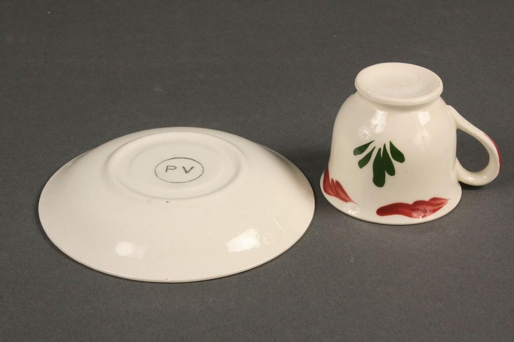 Lot 398: Blue Ridge, childrens teacups and saucers, Brittan