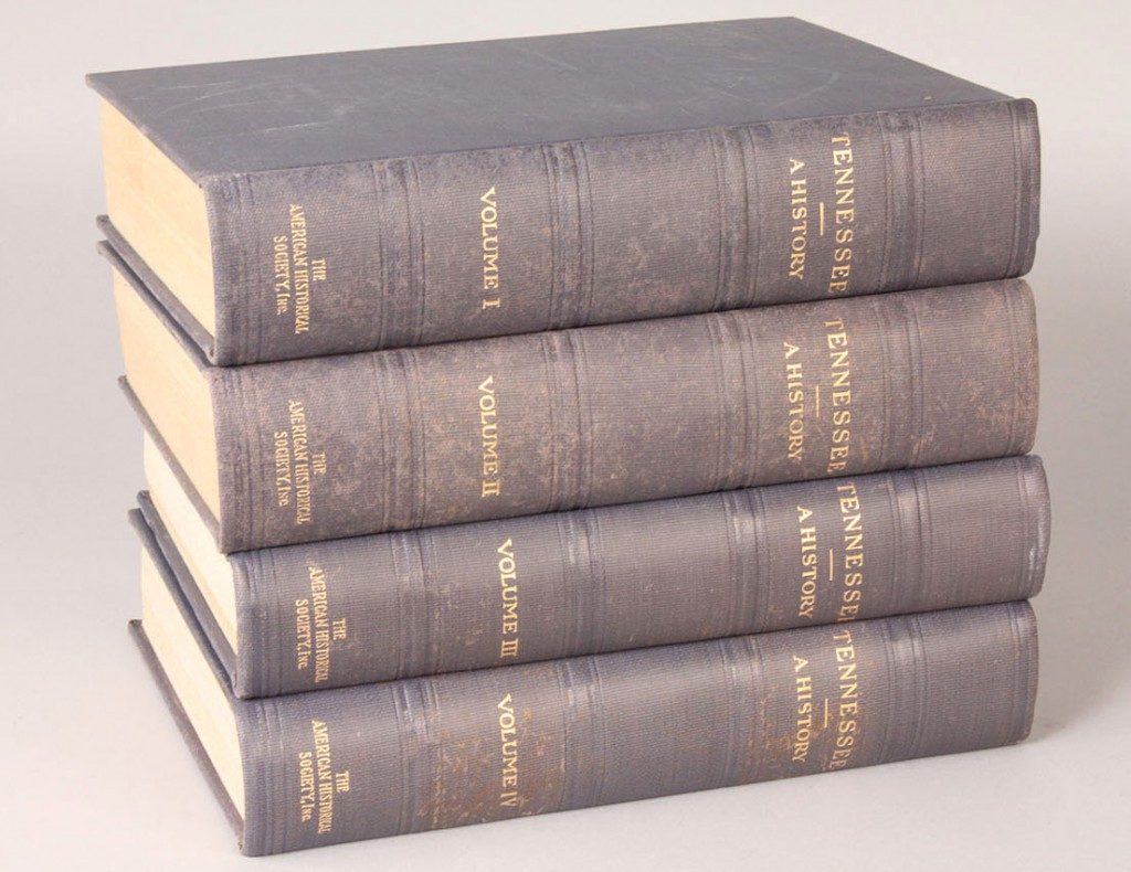 "Lot 3: 4 Volume Set, ""Tennessee, A History"""