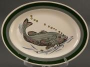 401: Blue Ridge Porcelain fish platter