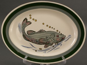 Lot 401: Blue Ridge Porcelain fish platter