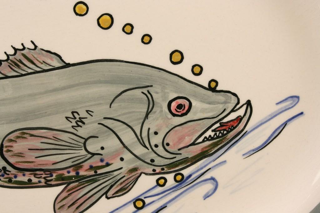 Lot 401: Blue Ridge Porcelain fish platter