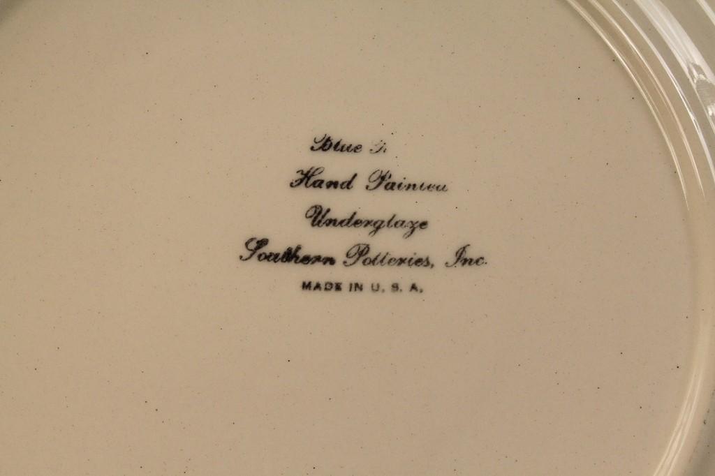 Lot 407: Blue Ridge Porcelain Cabin Scene plate, Calhoun