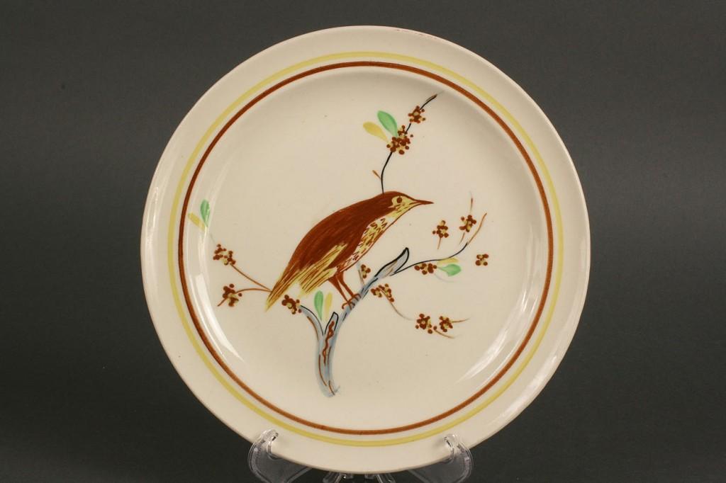 Lot 408: Blue Ridge Porcelain Song Bird Plates, 4 pcs