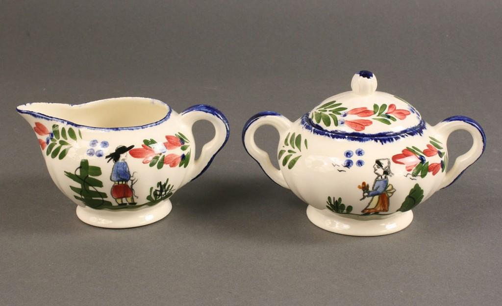 "Lot 412: Blue Ridge Porcelain, ""French Peasant"" pattern, 19"