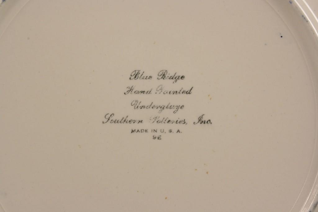 "Lot 413: Blue Ridge Porcelain, ""French Peasant"" pattern, 24"
