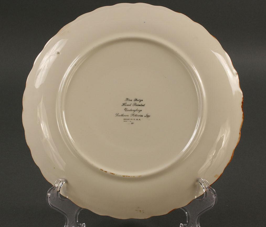 Lot 417: Blue Ridge Pheasant scene platter, signed Calhoun