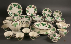 "Lot 419: Blue Ridge ""Fox Grape"" serving set, 48 pieces"