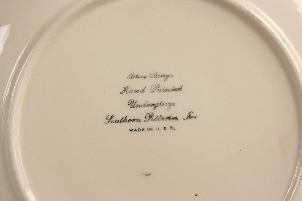 """Lot 419: Blue Ridge """"Fox Grape"""" serving set, 48 pieces"""
