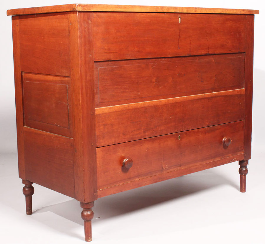 41: Middle TN Cherry Diminutive Blanket Chest, signed a