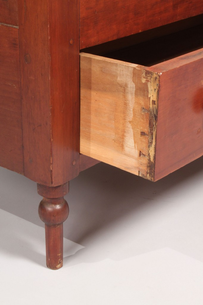 Lot 41: Middle TN Cherry Diminutive Blanket Chest, signed a
