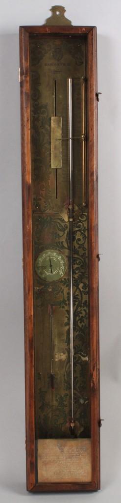 Lot 421: Continental Brass Wall Barometer
