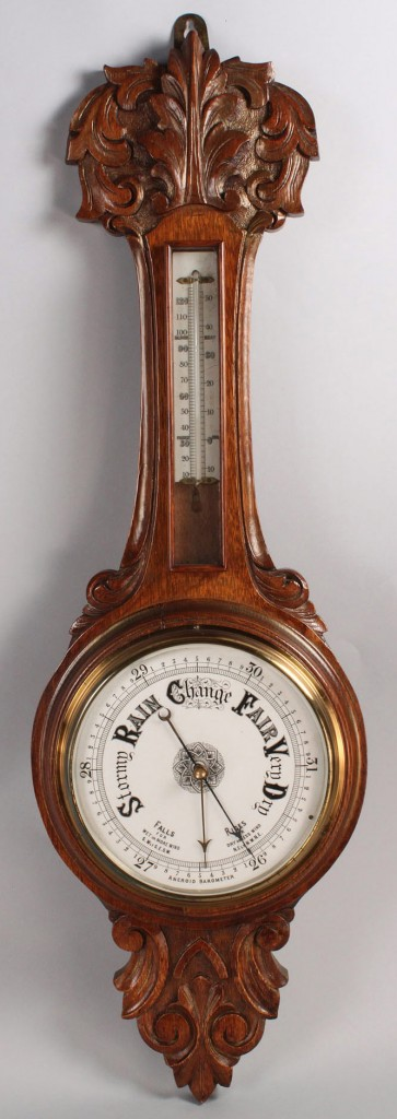 Lot 422: Victorian Oak Barometer