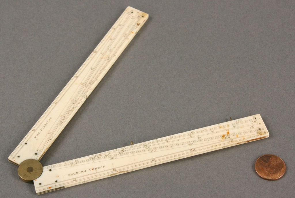 Lot 426: English Ivory Folding Ruler, Wes Jones