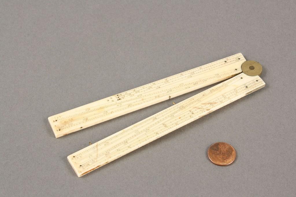 Lot 426: English Ivory Folding Ruler, Wes Jones