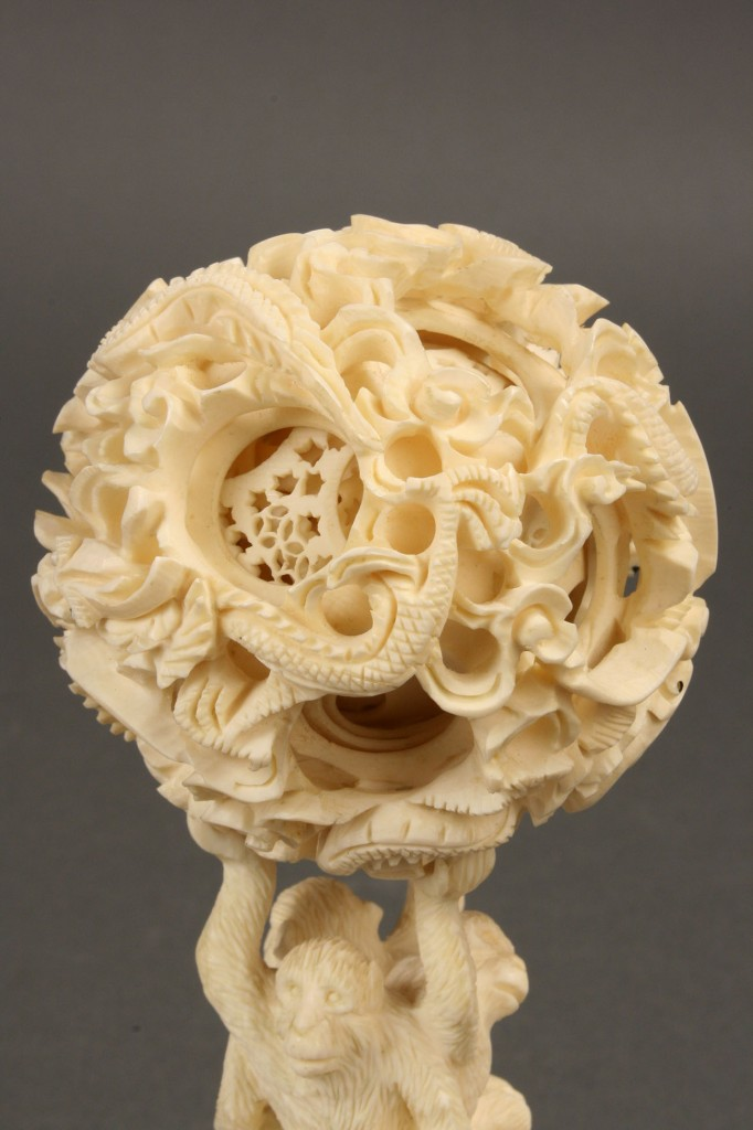 Lot 430: Asian carved ivory puzzle ball