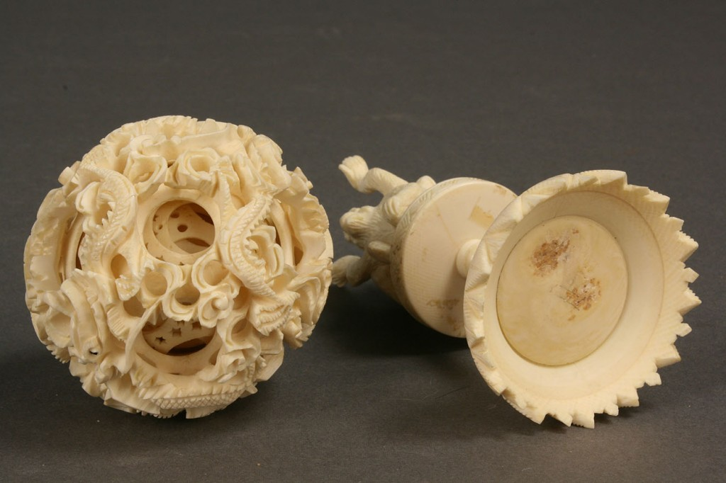 430: Asian carved ivory puzzle ball