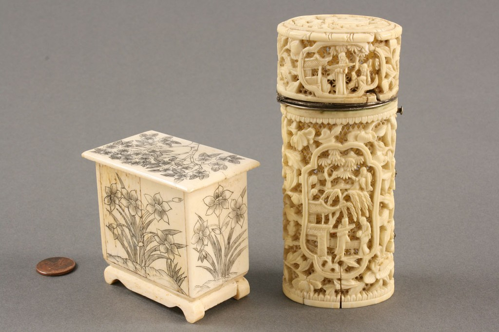 Lot 431: Lot of Two Ivory & Bone Items