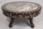 434: Oriental Rosewood Round Low Table