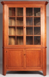 Lot 43: Middle TN Cherry Corner Cupboard