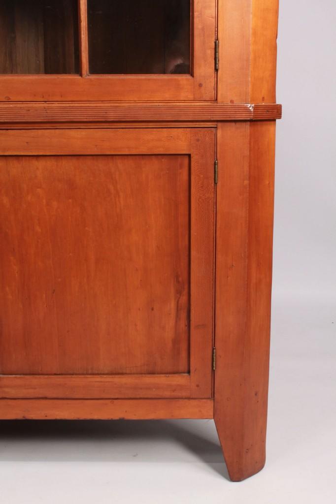 Lot 43: Middle TN Cherry Corner Cupboard