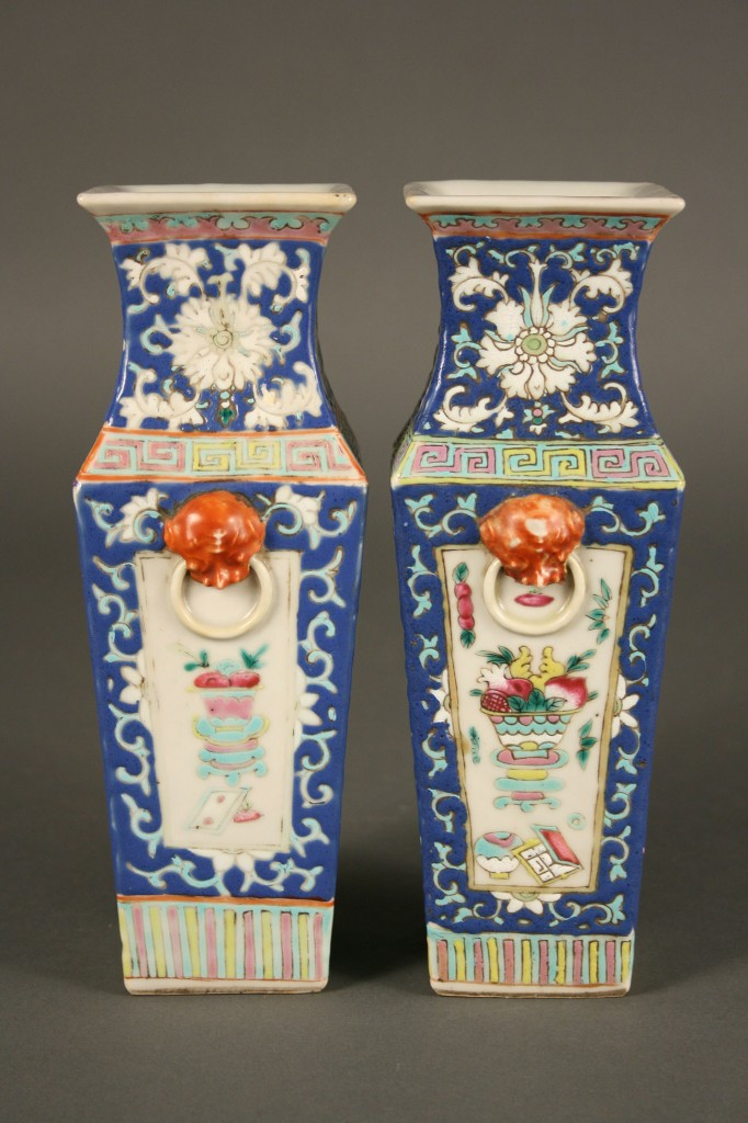 Lot 442: Pair Ch'ing Dynasty Vases
