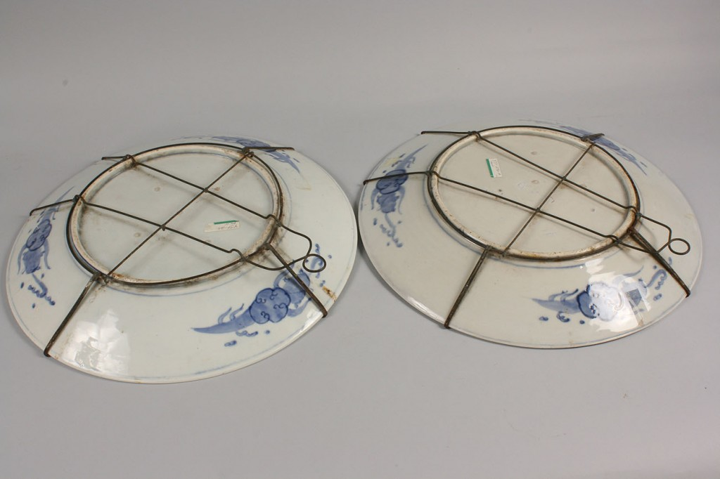 Lot 443: Pair of large Chinese Chargers, Hawthorne Pattern