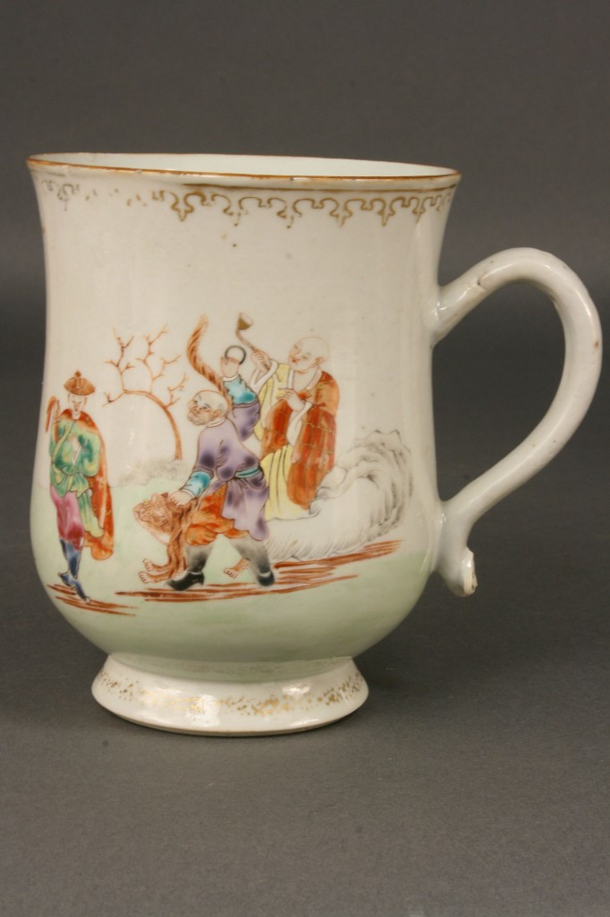 Lot 445: 2 Chinese Famille Rose Cider Jugs