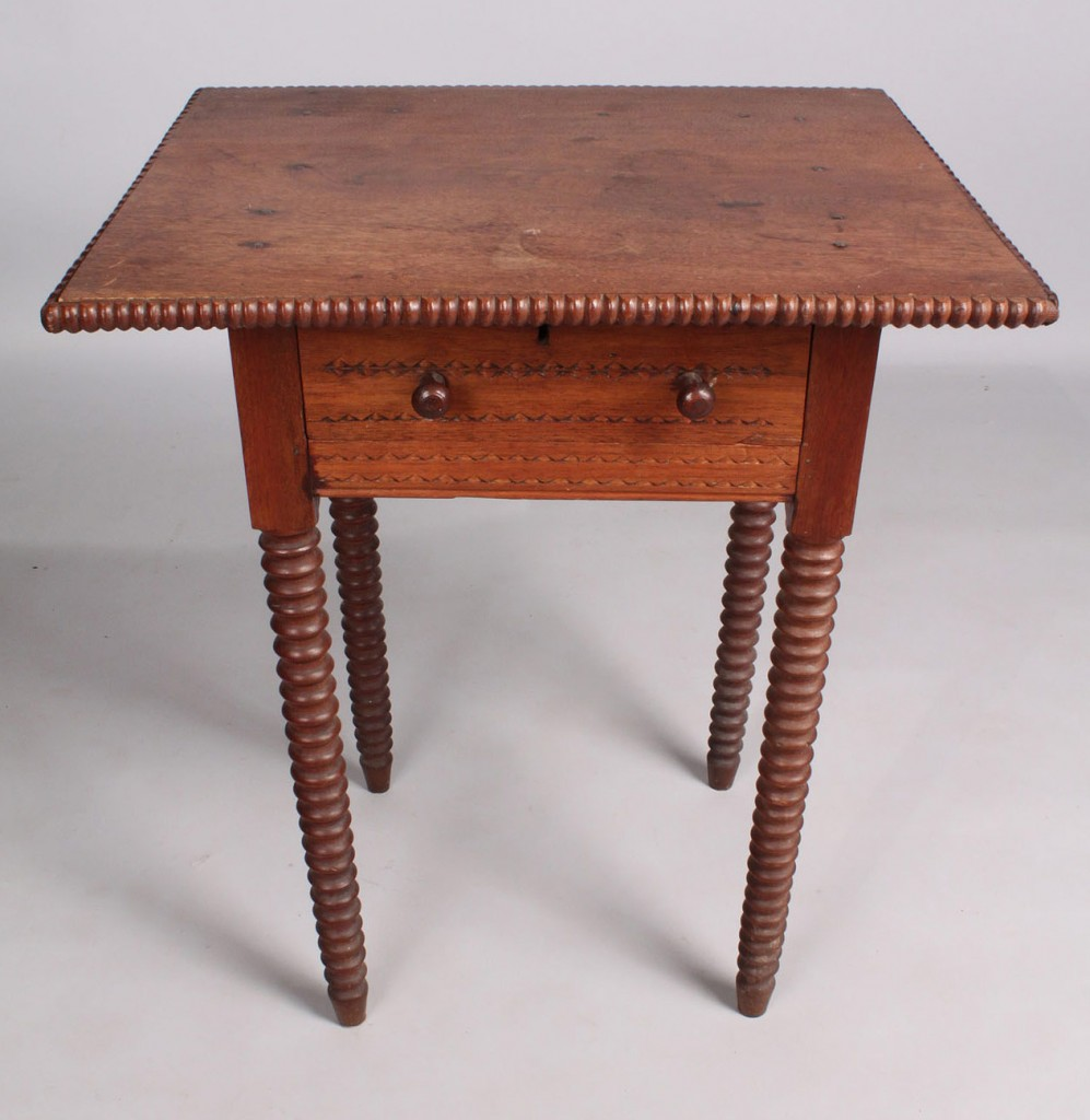 Lot 44: Middle TN Walnut One Drawer Stand