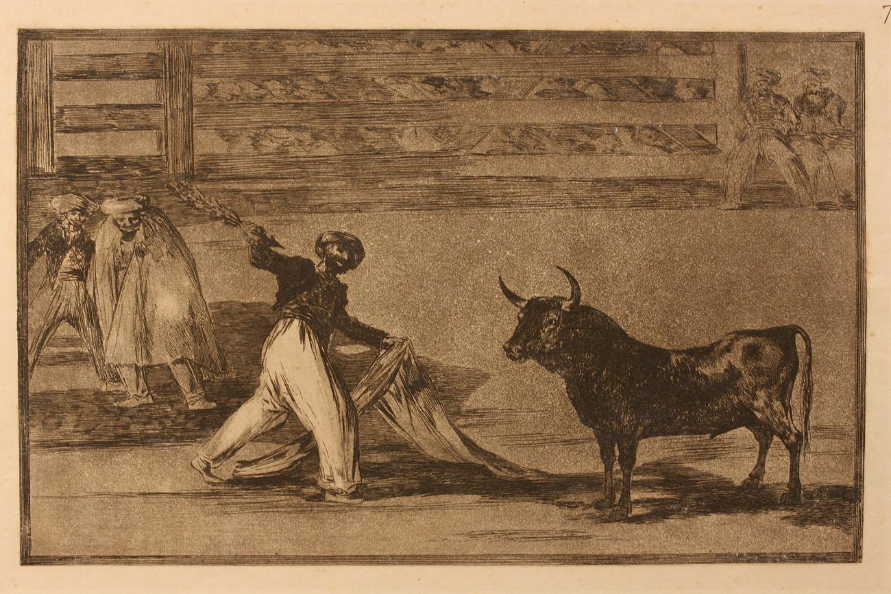 Lot 452: Aquatint Etching after Francisco de Goya