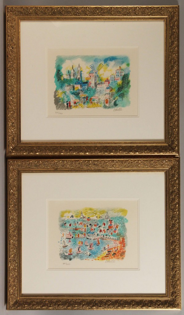 Lot 457: Pair of Charles Cobelle Lithographs