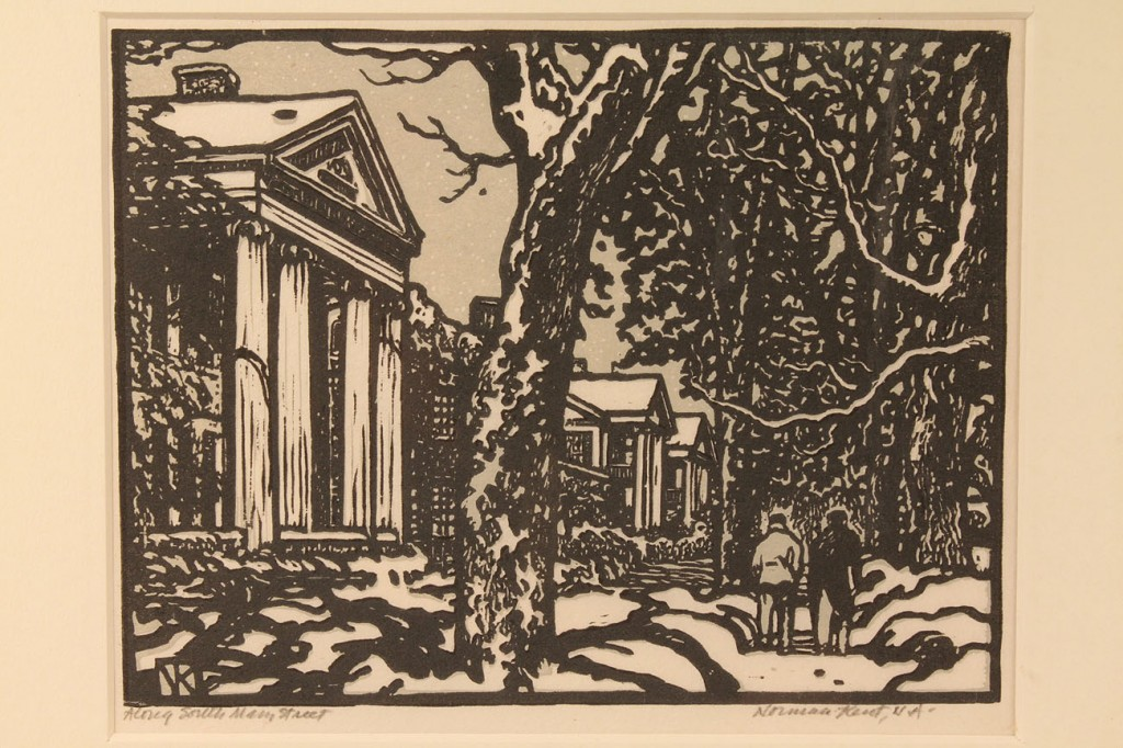 Lot 461: Lot of two woodcuts, Norman Kent