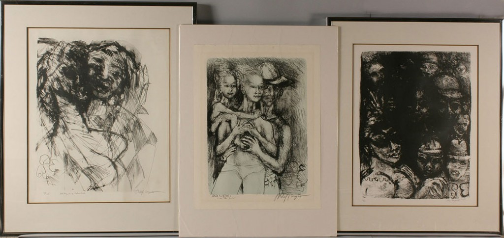 Lot 462: Lot of 3 Phillip Evergood lithographs