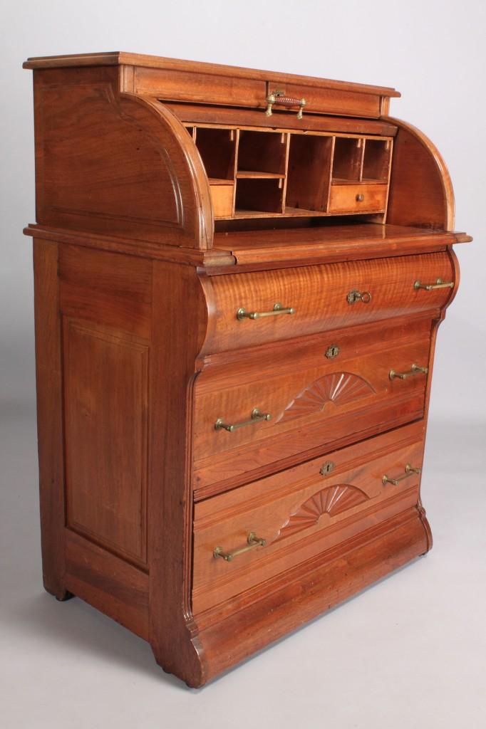 Lot 464: Diminutive Victorian Cylinder Desk