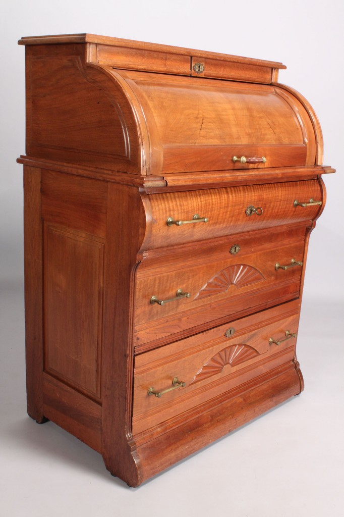 Lot 464: Diminutive Victorian Cylinder Desk