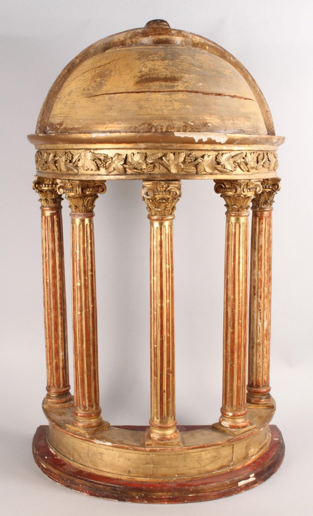 Lot 46: Carved Giltwood Tabernacle, 19th c.