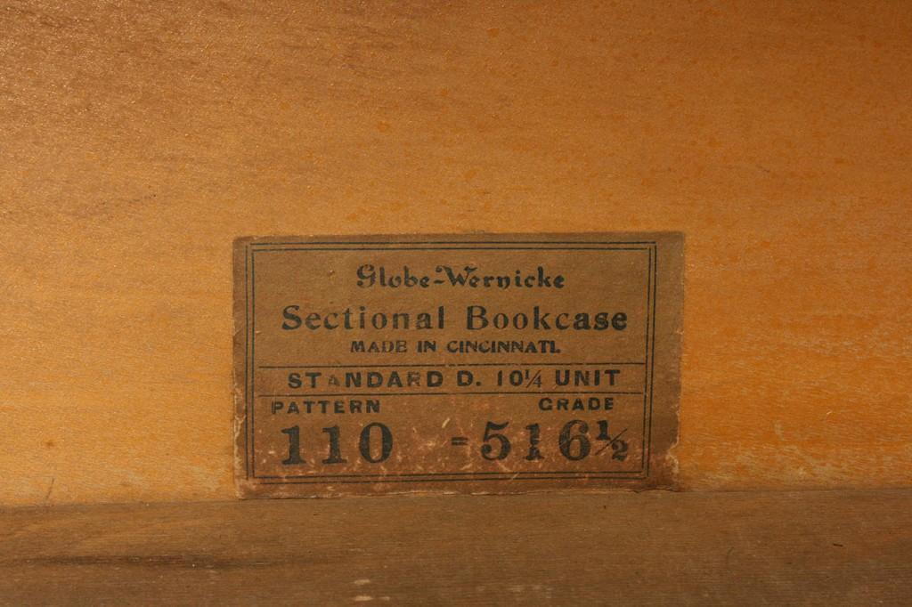 Lot 470: Globe Wernicke 3 Stack Bookcase