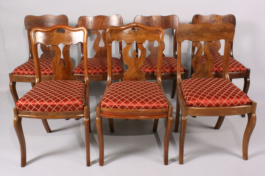 Lot 472: Seven assorted Victorian dining Chairs