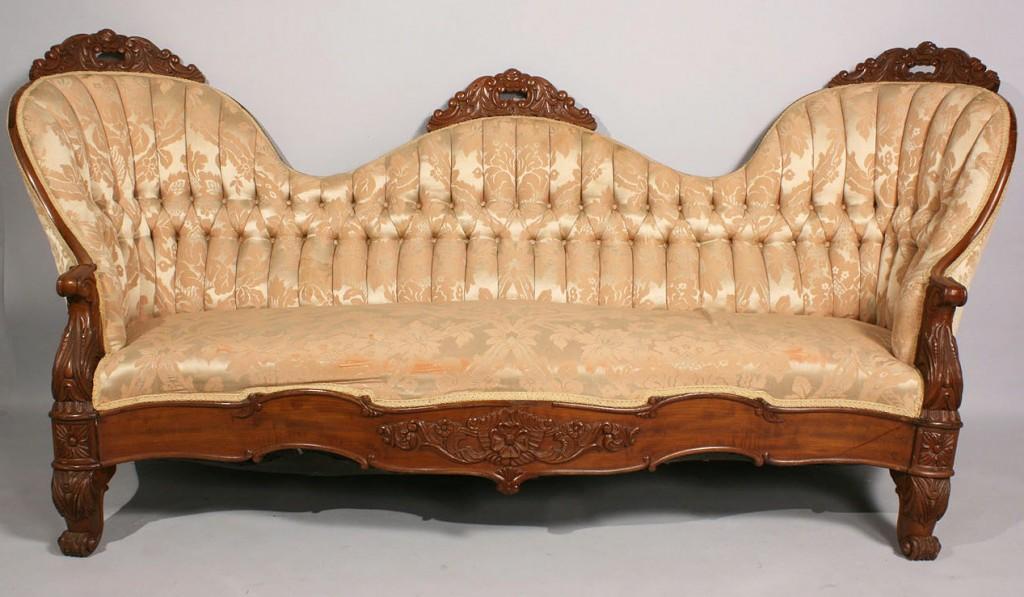 Lot 473: Rococo Revival Victorian sofa